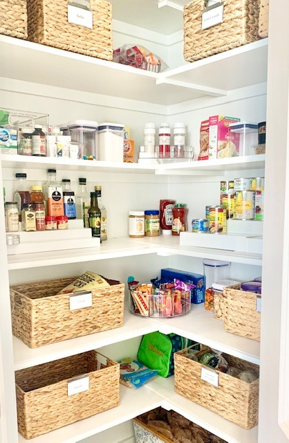 Pantry organization by a Professional Organizer in Fort Worth